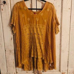 Johnny Was - Mustard Silk Tunic
